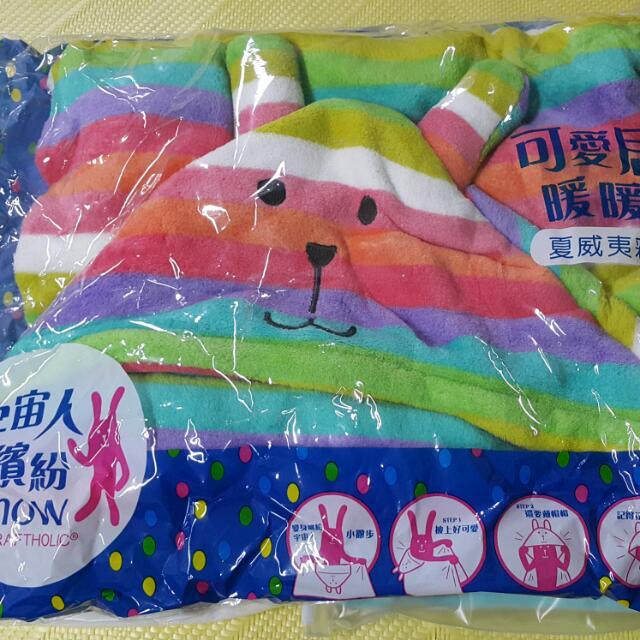彩虹兔暖暖毯