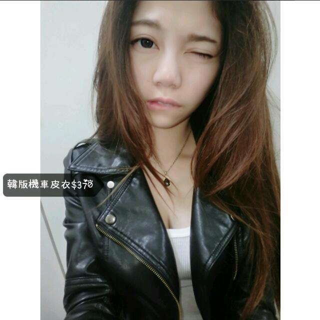 韓版短款機車皮衣外套