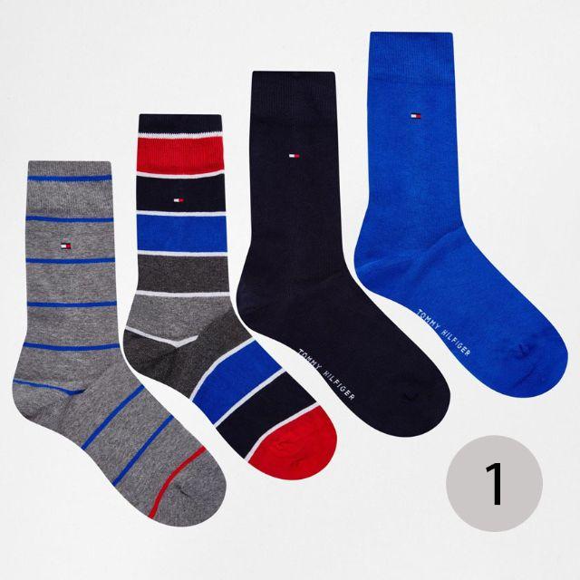 [英國直購] Tommy Hilfiger 襪子4件組