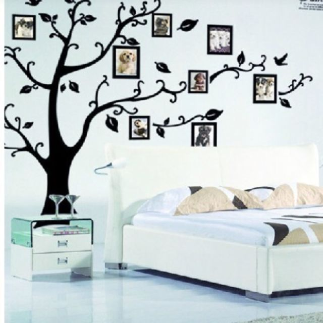 Family Tree With Hanging Photo Frames Wall Stickers Decal Art Deco ...