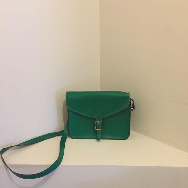 Green Shoulder/cross Body Bag