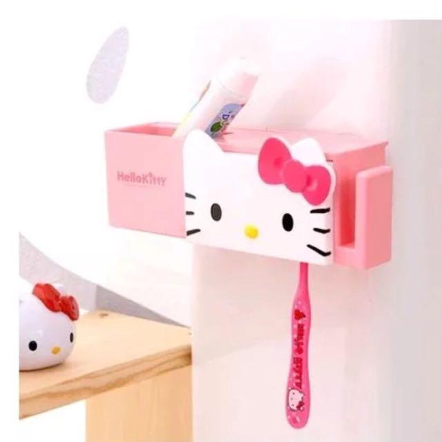 Hello Kitty 吸盤刷牙器具收納盒