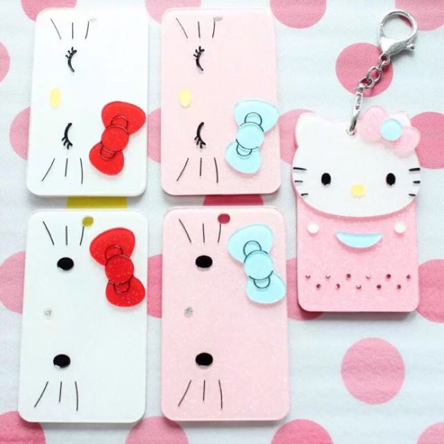Hello Kitty 可愛壓克力交通卡套 門禁卡套