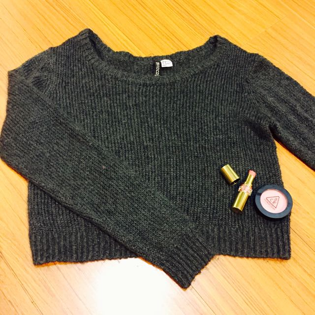 H&M質感針織短版毛衣
