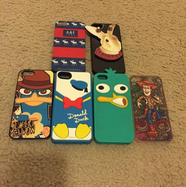 iphone5/5s手機殼(泰瑞,a&f,唐老鴨,胡迪,兔子)