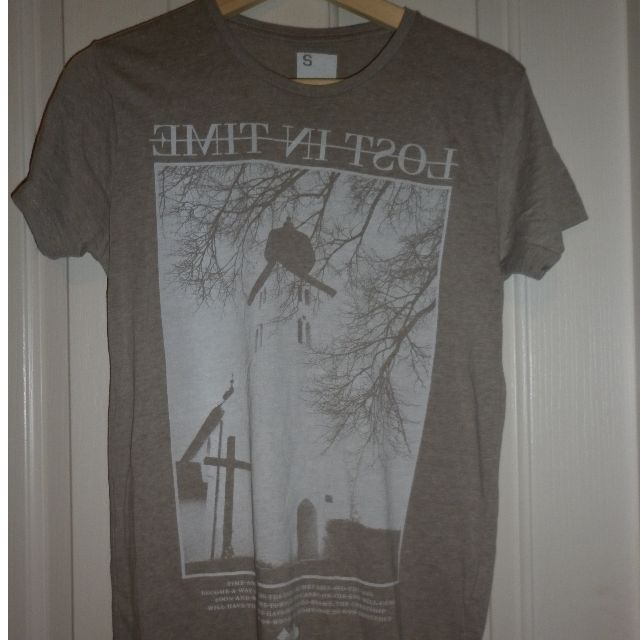 mottled cream t-shirt - brand new, never been worn - size S, cotton on