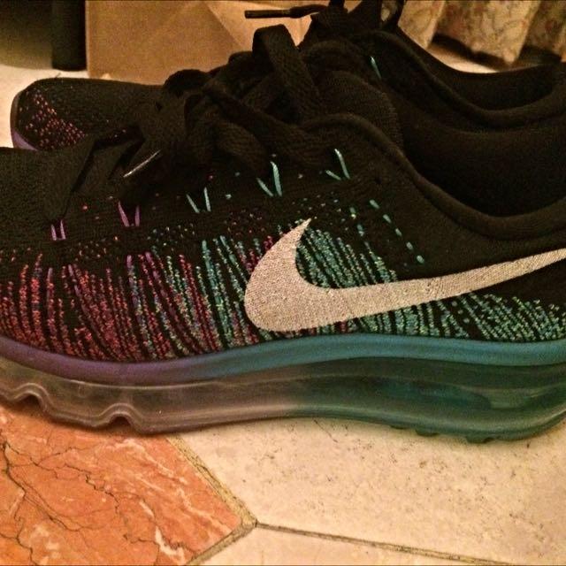 Nike flyknit max 藍紫色