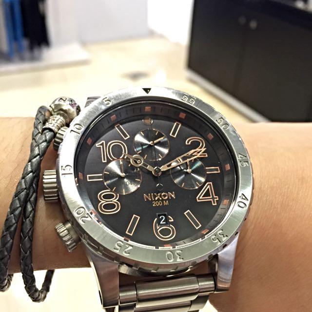 (全新)NIXON 48-20 三眼腕錶