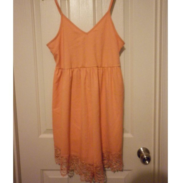 Passion fusion orange lace playsuit - size M - never been worn