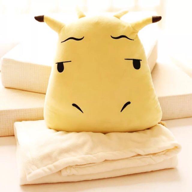 Q版李光洙長頸鹿 抱枕空調毛毯兩用