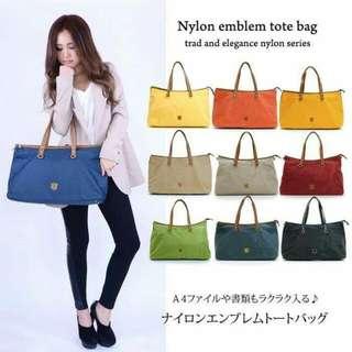 日本品牌Macaronic Style 2Way手提/肩背/側背/尼龍防潑水防水包媽媽包
