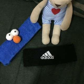 Adidas 毛巾頭帶