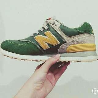 正版new balance NB 慢跑鞋 草地綠