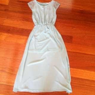 Turquoise Flowy Dress