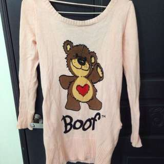Boof熊長版上衣