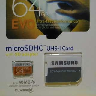 (全新)三星64G記憶卡
