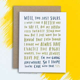 AWKWARD SYMPATHY CARD by Emily McDowell Studio