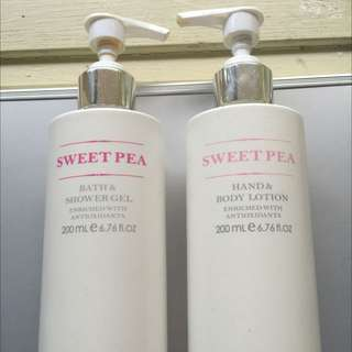 SweetPea Hand/Body Lotion & Shower Gel