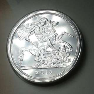 UK £20 GEORGE AND THE DRAGON SILVER COIN Unopened