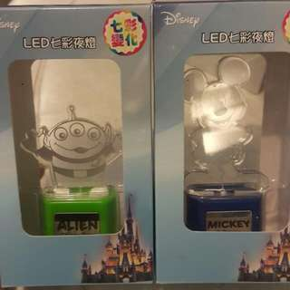 降價! 迪士尼 LED七彩夜燈 剩米奇 三眼怪