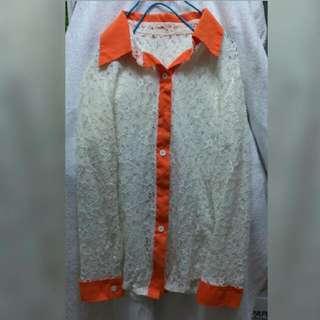 蕾絲氣質襯衫