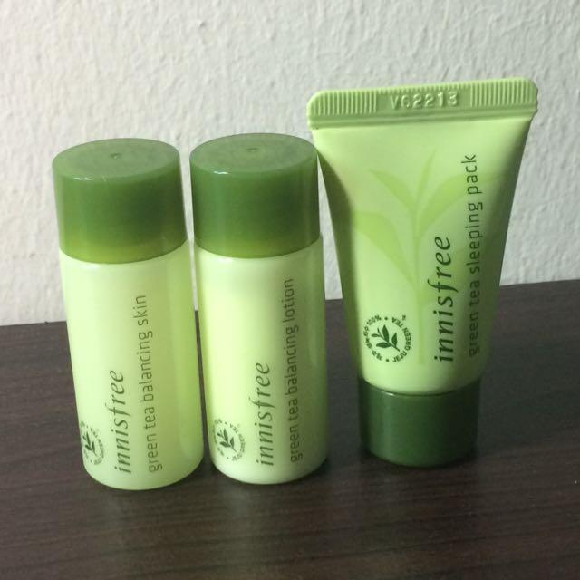 1 Set Sample Of Innisfree Green Tea