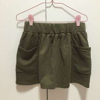 #Dirty30 Army Green Cotton Skirt