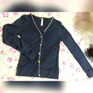 木紋釦針織外套