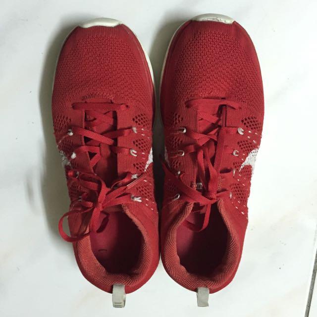 💯500元Nike flyknit lunar1 25cm 當上班鞋跑步鞋雨鞋也不心疼