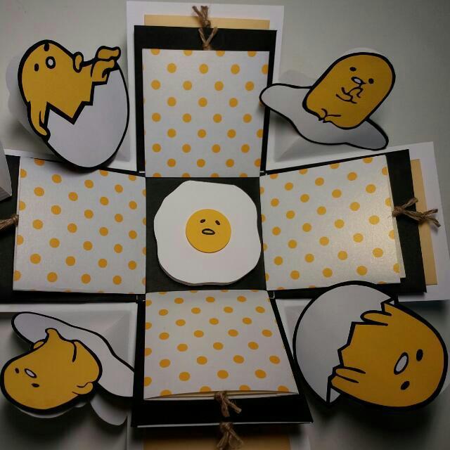 蛋黃哥☆禮物盒爆炸卡☆手工卡片☆情人節☆生日禮物