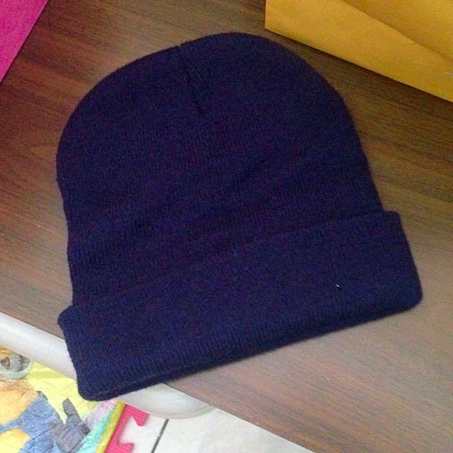 深藍色毛帽(含運)