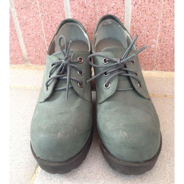 正韓製綠色高跟鞋