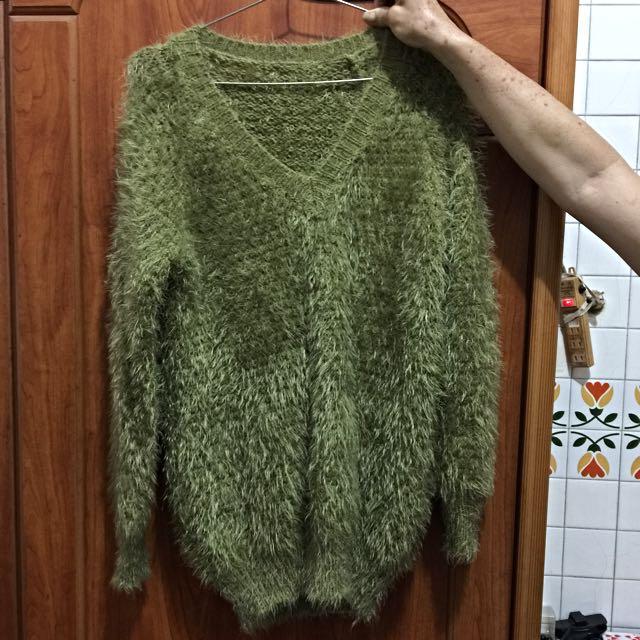 毛衣(蘋果綠)