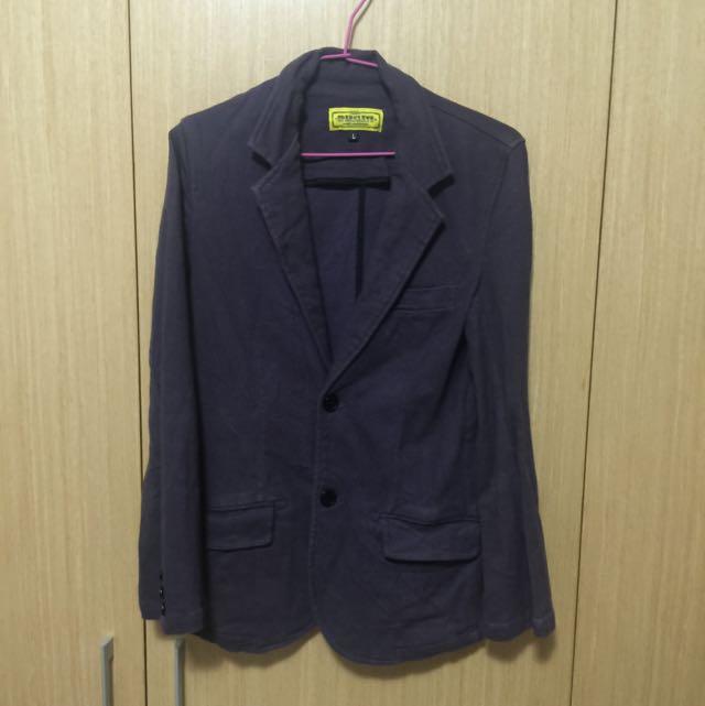紫色休閒西裝外套 肩寬39 胸寬44