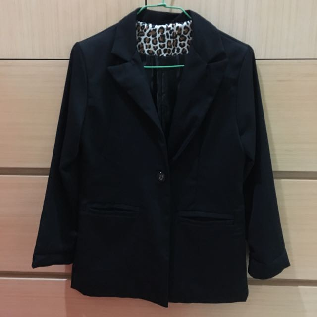 二手/ 內豹紋西裝外套