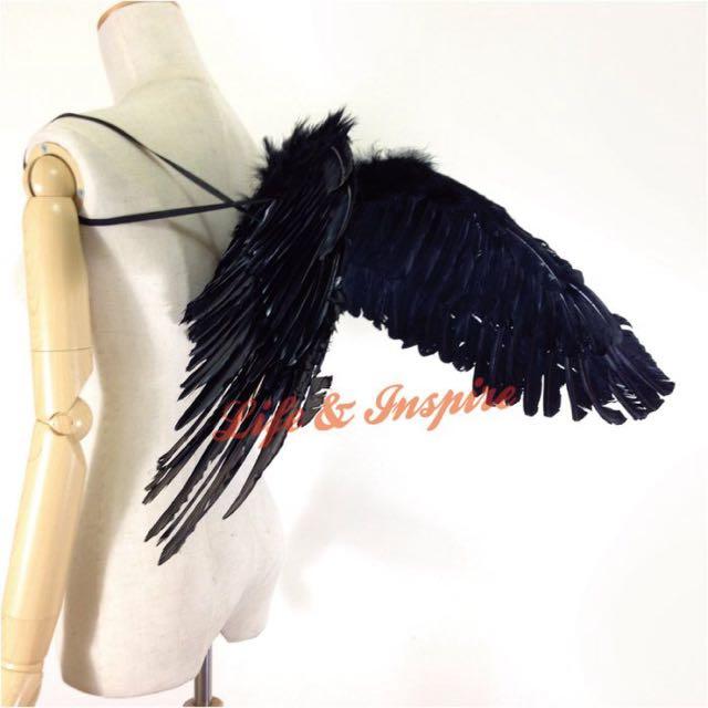 暗黑天使黑色翅膀道具 張翅版 惡魔地獄使者 真人尺寸車展派對 另有白色翅膀