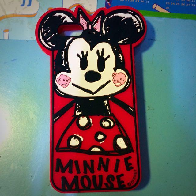 矽膠 全包 手機軟殼 米妮立體造型塗鴉 iPhone 5 5s 可愛