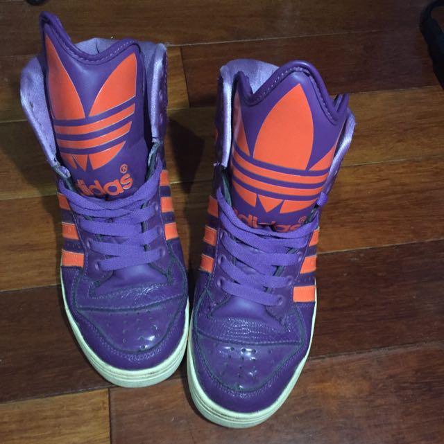 愛迪達 Adidas 鞋 紫色 含運 24號