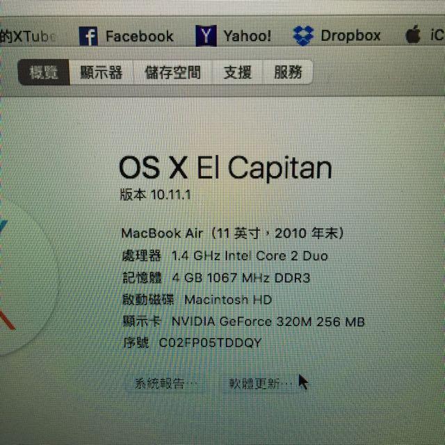 MacBook Air 11(11英寸,2010年末)