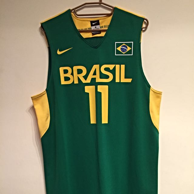 NIKE  VAREJAO巴西國家奧運版球衣L號
