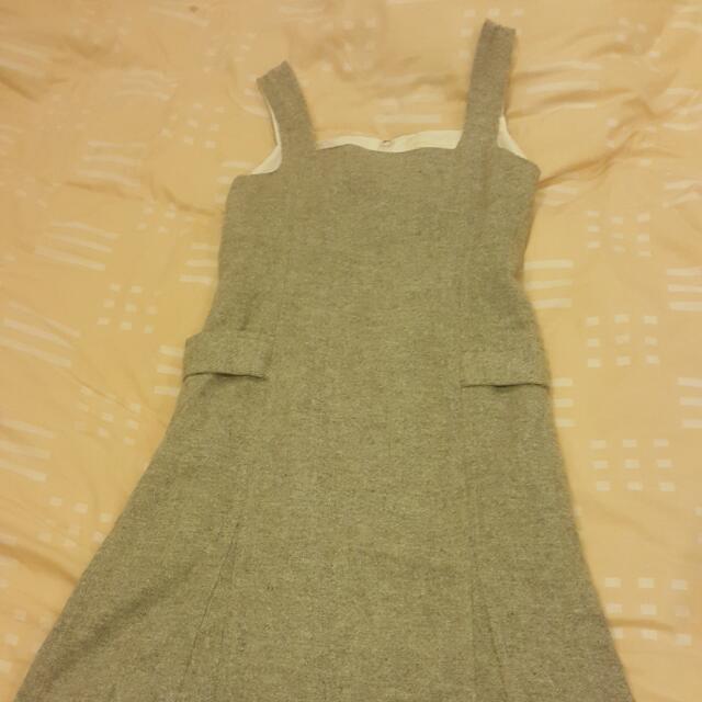 《出清出清》OLIVE DES OLIVE專櫃·女單一尺寸·OL萬年款灰色毛料背心裙