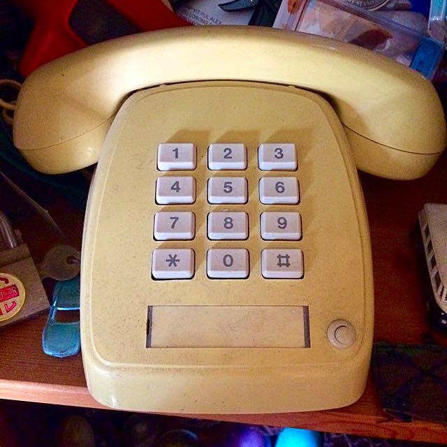 Vintage Telephone (Push Button / Dial)