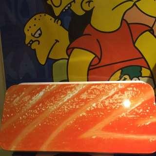 🍣🍣🍣鮭魚壽司鉛筆盒😋鐵盒製/