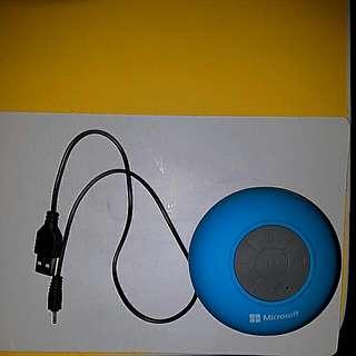 微軟防潑水藍芽喇叭 可在浴室聽歌