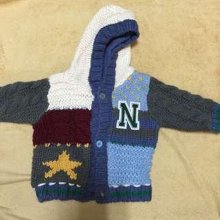 Next正品針織毛外套0-3m熱賣款