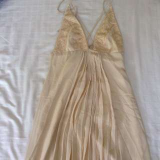 Beatrice Looi Embroidered Gold Evening Gown
