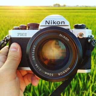 Nikon FM2 & 50mm F1.4k 交換 GR