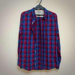 紅藍格子襯衫