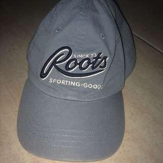 Roots灰藍色老帽