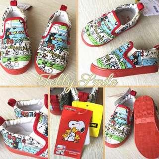 日本Snoopy 史努比 男女童 超可愛卡通塗鴉 帆布鞋